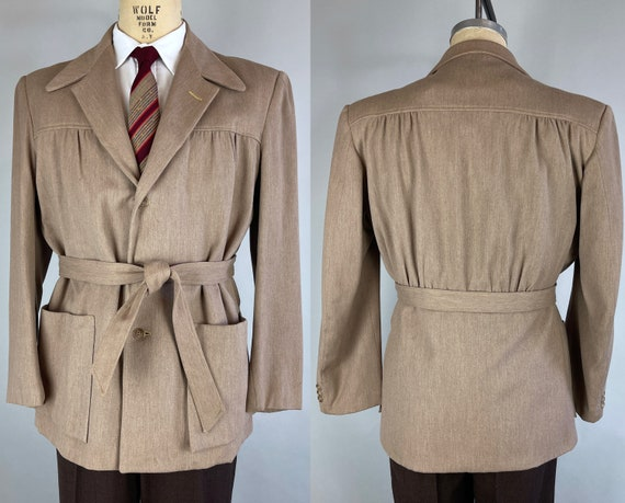 """1940s Cool and Casual Belted Jacket 