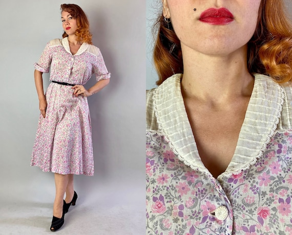 """1930s Floral """"Fashion Frock"""" 