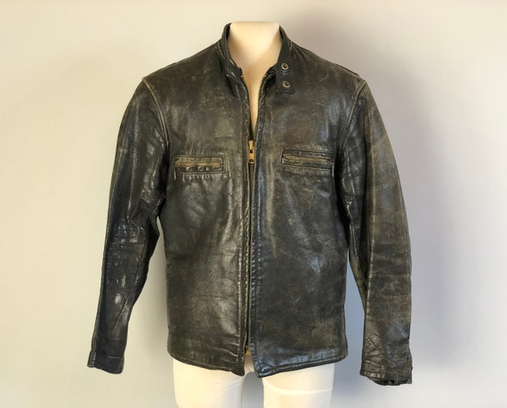 """1930s Mens Cafe Racer Jacket 