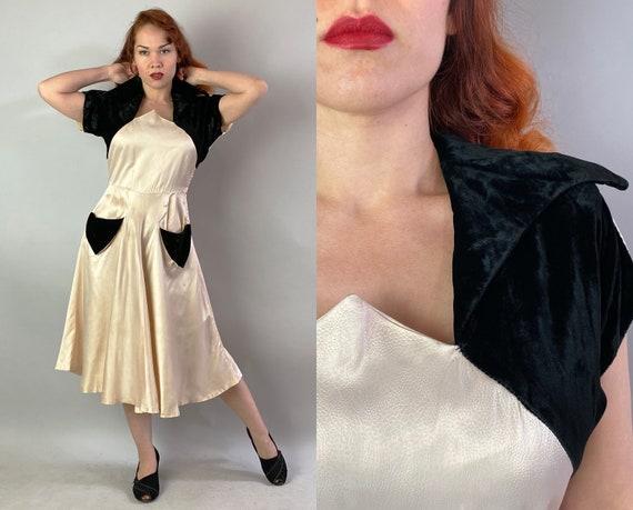 1940s Lounge Lizard Liza Dress   Vintage 40s Pales