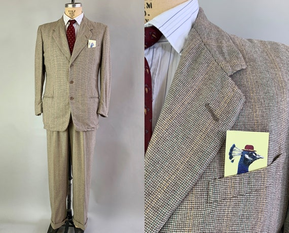 """1940s """"Varsity Town"""" Wool Suit 