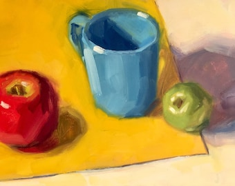 The Blue One- Original Oil Painting on 5x7 inch Ampersand Gessobord