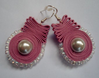 Pink Soutache earrings