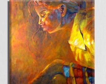 Canvas Wall Decor, Modern Wall Decor, Modern Art Print, Brown Art, Canvas Wall Art, Figurative Art, Modern Wall Art Woman Portrait
