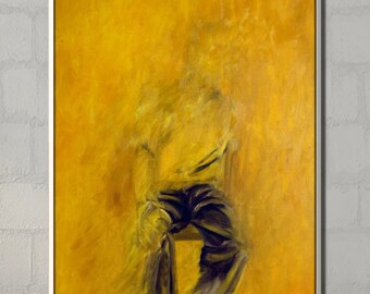Abstract Painting, Canvas Painting, Abstract Wall Art, Original Artwork, Abstract Canvas Art,  Contemporary Art, Figure Art, Figure Painting