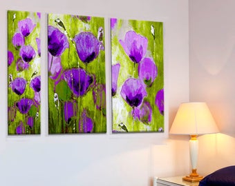 Art Set Print, Set Of Prints, Purple Wall Decor, Purple Art, Set Of 3 Wall  Art, Wall Art Set Of 3, Set Of 3 Prints, Art Set, Purple Wall Art