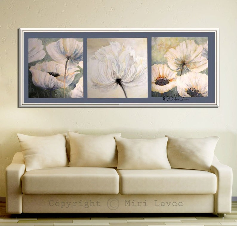 Flower Art, Flower Wall Art, Large Wall Art, Living Room Wall Art, Flower  Canvas Art, Living Room Art, White Flower Art, Flower Art Print