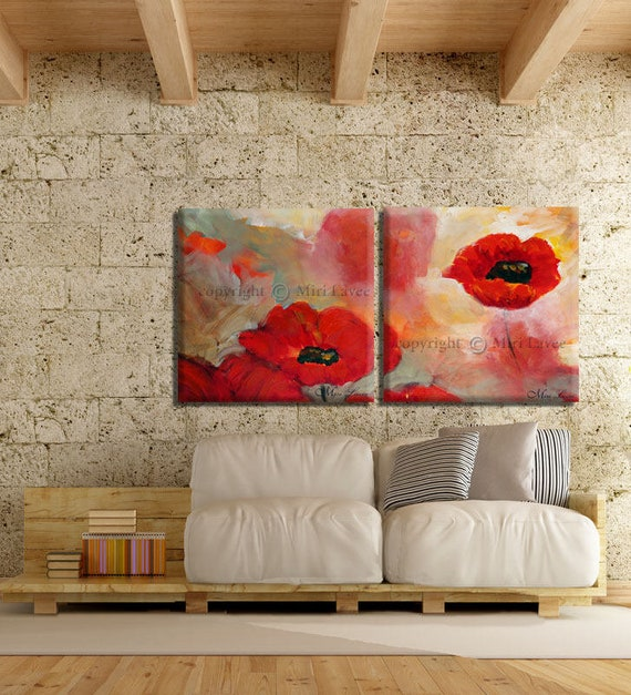 Extra Large Wall Art Painting Set Of 2 Living Room Paintings Etsy