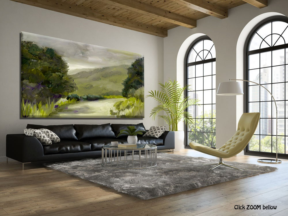 Canvas wall art landscape print landscape art living room - Landscape paintings for living room ...