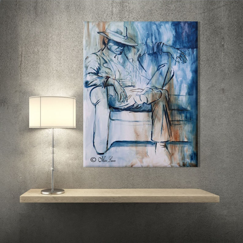 Miraculous Living Room Decor Abstract Canvas Art Modern Art Canvas Wall Art Office Art Painting Print Manly Office Decor Home Interior And Landscaping Ologienasavecom