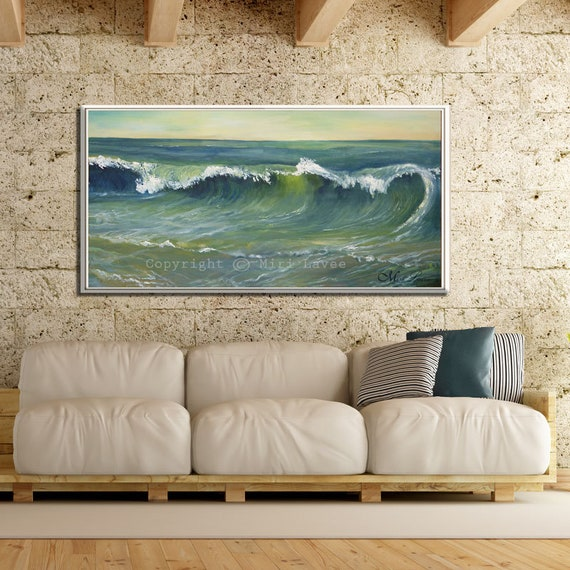 Blue Wall Art Green Wall Art Canvas Living Room Wall Art Etsy