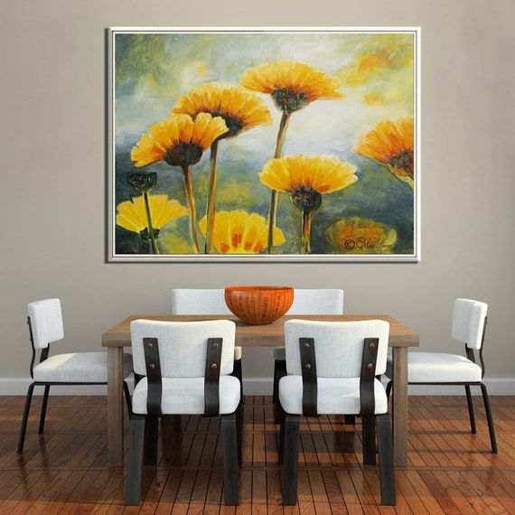 Flower Painting, Paintings On Canvas, Living Room Painting, Flower Oil  Painting, Large Painting, Nature Painting, Large Flowers Painting