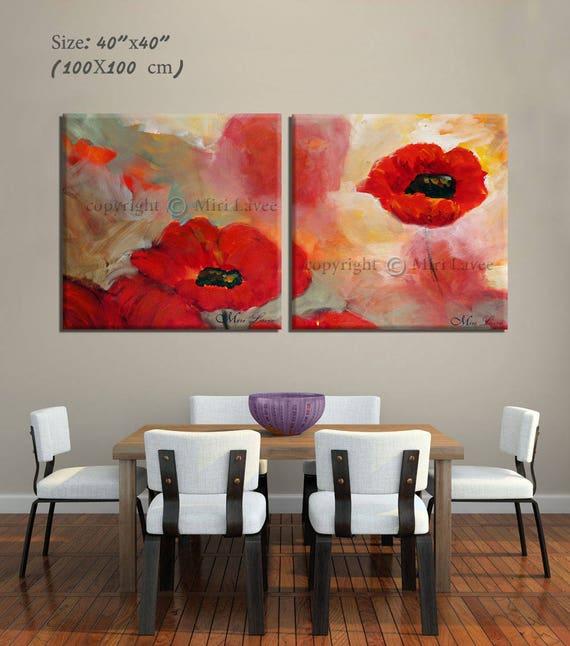 Wall Art Set, Bedroom Wall Art, Romantic Wall Art, Large Canvas Art, Modern  Canvas Art Set of 2, Landscape Art, Canvas Art, Gifts for Mom