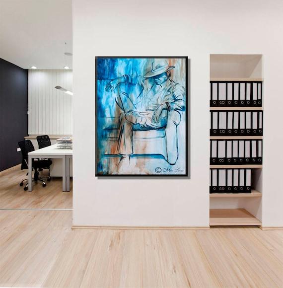Large Art Print Office Decor Canvas Print Modern Office Wall   Etsy