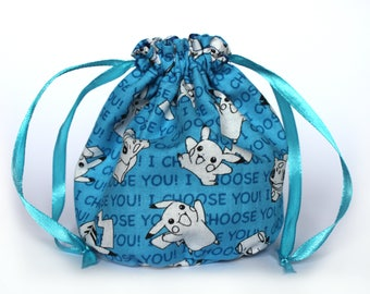 Blue pokemon dice bag