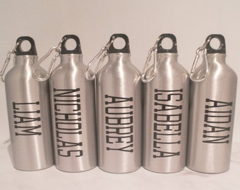 Personalized Aluminum Water Bottle - Name - Kids Gifts - Graduation Gift - Team Gifts - Water Bottle Favors - Sports Gift - Birthday Favor