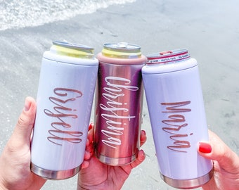 Personalized Can Seltzer Cooler- Bridesmaid Gift Idea - Bachelorette Favors - Birthday Gift For Her - Bridal Party Gifts