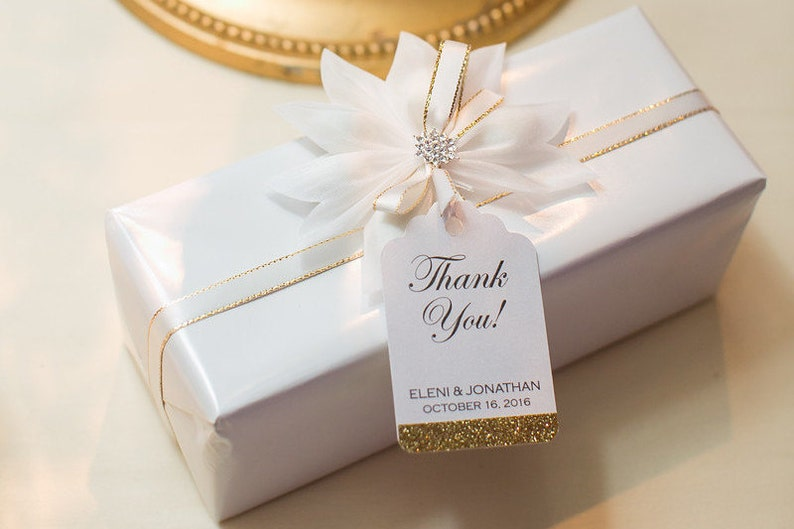 Wedding Favor Tags   Personalized Thank You Tags  Wedding image 0