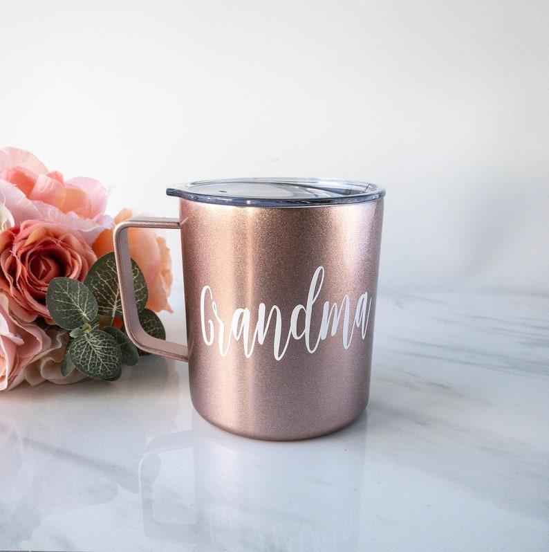 97b747a4315 Mom Travel Mug Grandma Gift Personalized Thermal Outdoor | Etsy