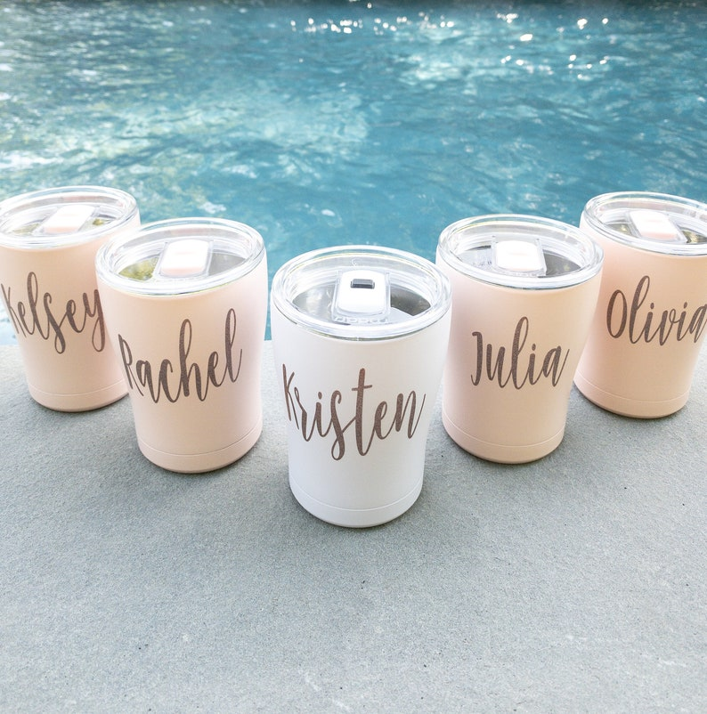 Personalized Tumblers with Slide Lid Bridesmaid Gift Idea  image 0