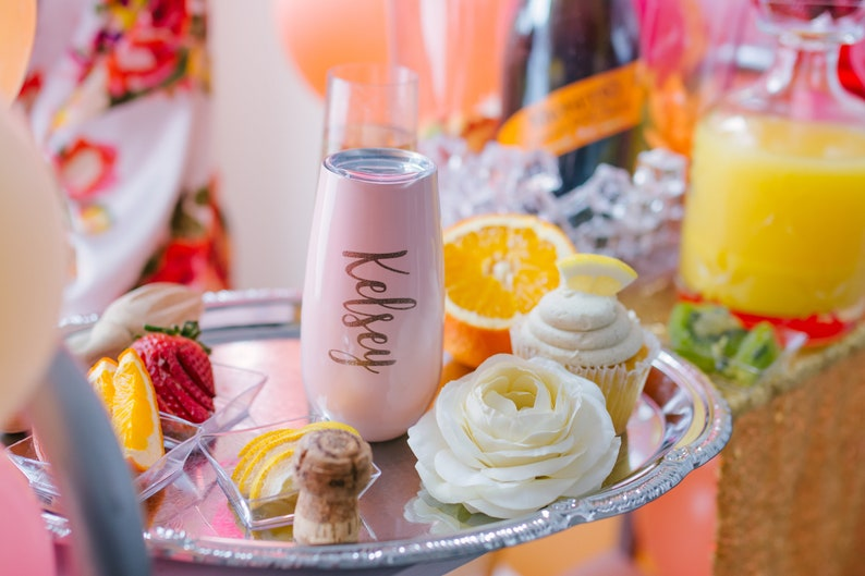 Personalized Swig Champagne Flutes Bridesmaid Gift Idea  image 0