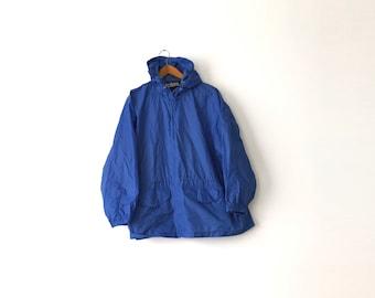 Basic & Light 90s Blue Windbreaker - Large / Blue Windbreaker / Windbreaker / 90s Windbreaker / Light Windbreaker / Basic Jacket / Jacket