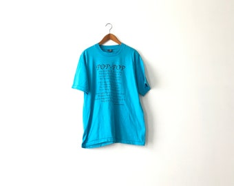 Turquoise 90s Pop-Pop Shirt - Adult Large /90s / Grandfather / Grandfather Shirt / Fathers Day / Dad Shirt / Dad T-Shirt / Grandfather / 90s