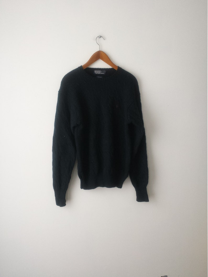 best service b7e04 0c09a Polo Ralph Lauren Pullover Sweater/Greenish color/100% Wool/Size Large/Some  good ware left