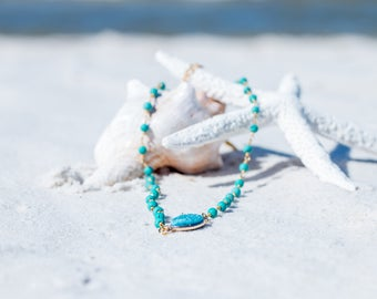 Druzy Choker / Gold Druzy Choker /  Turquoise Druzy Beaded Choker / Trendy Druzy Choker / Druzy Jewelry