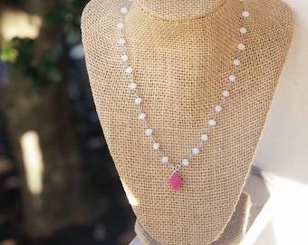 Hamsa Druzy Choker/ hamsa necklace / hamsa choker / druzy hamsa charm / Hamsa necklace/ Silver Choker/ Bat Mitzvah Gift/ Teenage girl gift