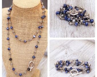 Long Layering Necklace wrap bracelet  Convertible  Necklace boho bead layered necklace long beaded necklace bobo beaded wrap bracelet