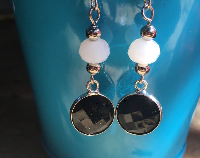 Black and White Earrings | Black and Silver Earrings | Lightweight Dangle Earrings  | Your new go with everything earrings