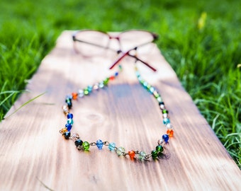 Eye Glasses Chain  |  Eye Glasses Holder   |  Trendy Glasses Accessories  |  Colorful Reading Glasses Chain  |  Wire Wrapped Glasses Chain