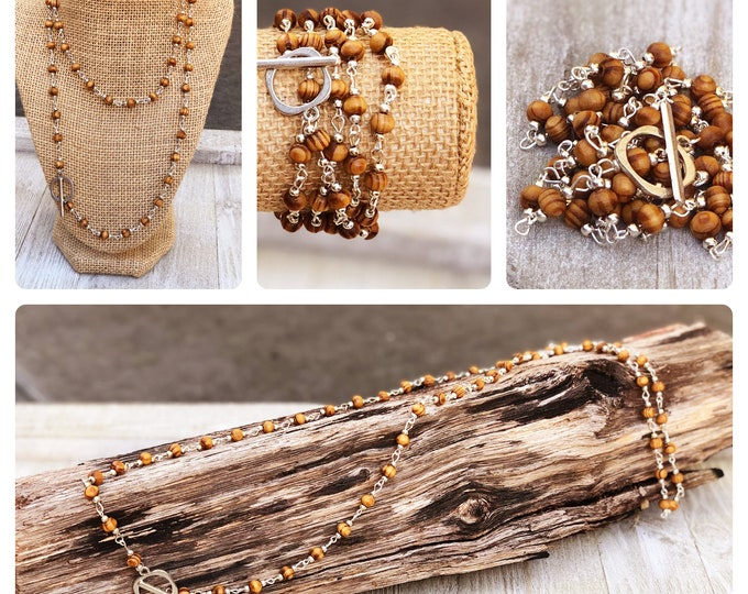 Long Layering Necklace wrap bracelet Convertible Necklace boho bead layered necklace long beaded necklace bobo beaded wrap bracelet