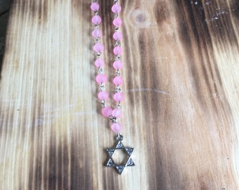 Blingy Star of David Necklace | Wire Wrapped Star of David Necklace | Bat Mitzvah | Modern Jewish Jewelry | Jewish Star made in Israel