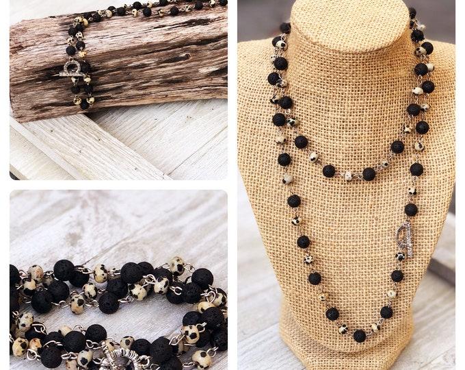 wrap bracelet Long Layering Necklace Convertible  Necklace boho bead layered necklace long beaded necklace bobo beaded wrap bracelet