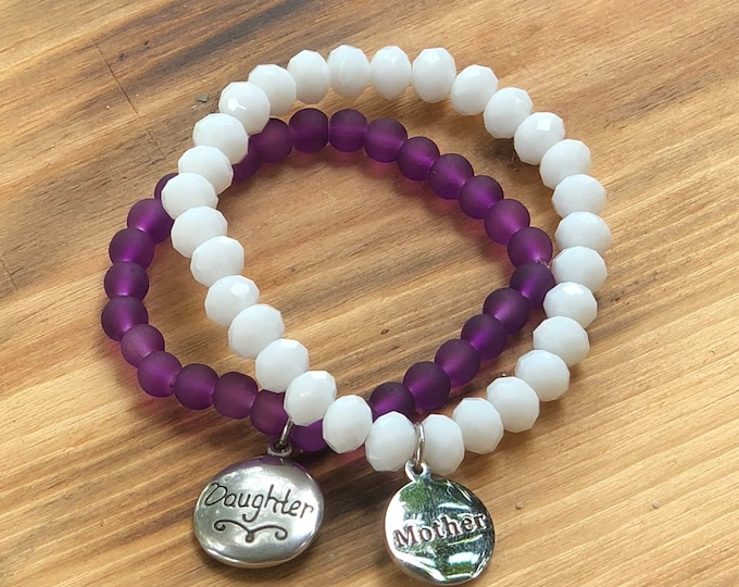 Set of Mother Daughter Bracelets  Mom, Daughter Gift Jewelry   Mother's Day   Matching Bracelets