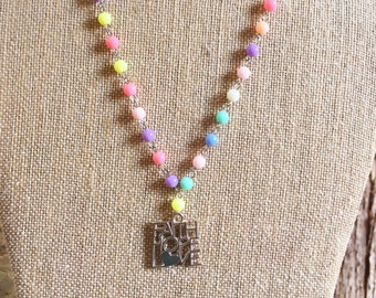 Faith, Hope and Love Necklace / Girls Necklace / Fun Kids Necklace / Pastal Necklace