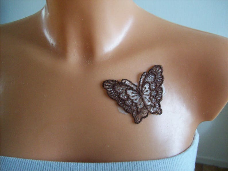 jewelry for bridal skin lace Butterfly colorizes evening party wedding temporary tattoo