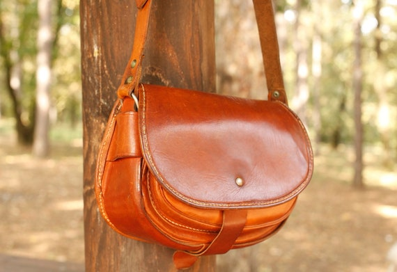 Vintage Leather Crossbody Bags , Brown Leather Mes