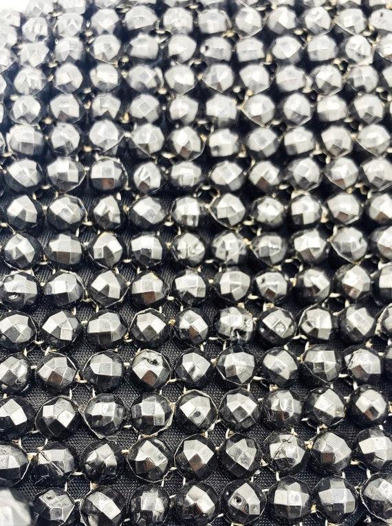 1960's Black Beaded Shoulder Bag - image 7