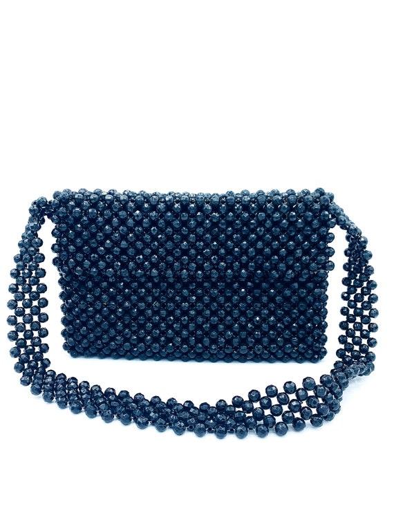 1960's Black Beaded Shoulder Bag - image 4