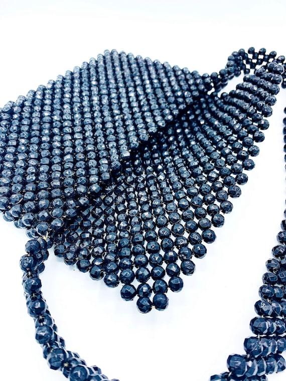 1960's Black Beaded Shoulder Bag - image 3