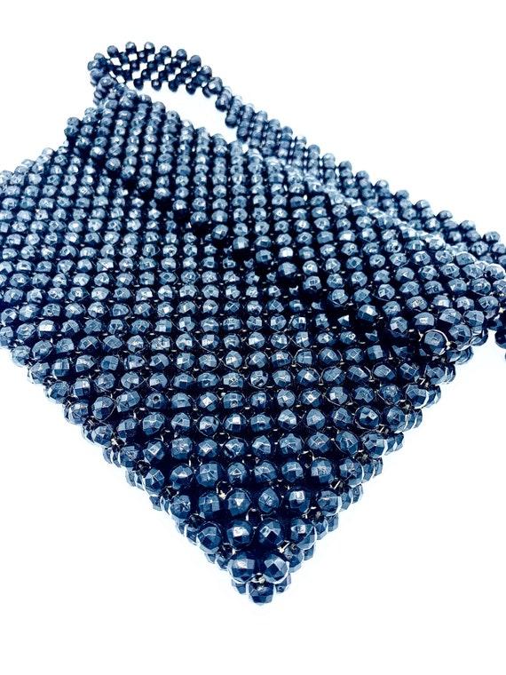 1960's Black Beaded Shoulder Bag - image 2