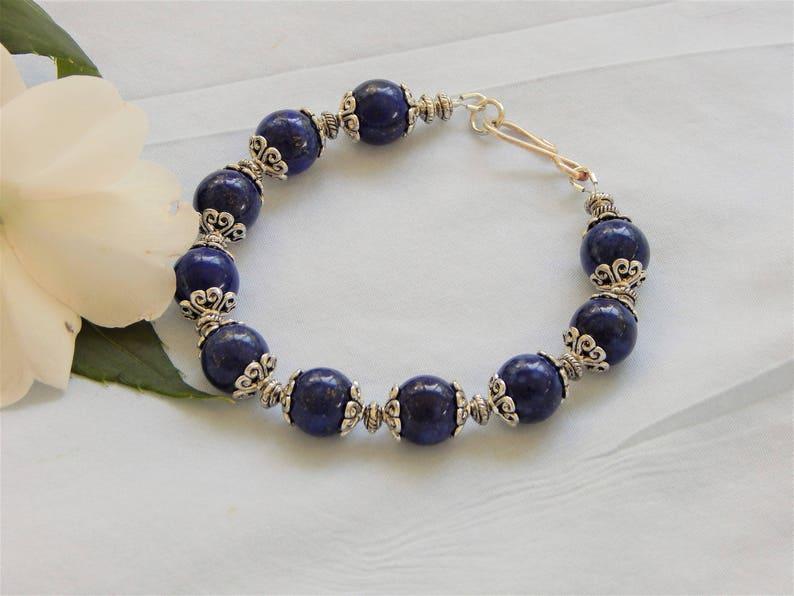 Lapis Lazuli Stone Beaded Bracelet B32