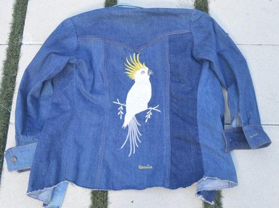 60s Landlubber Denim Shirt Jacket ML Vintage Shir… - image 2