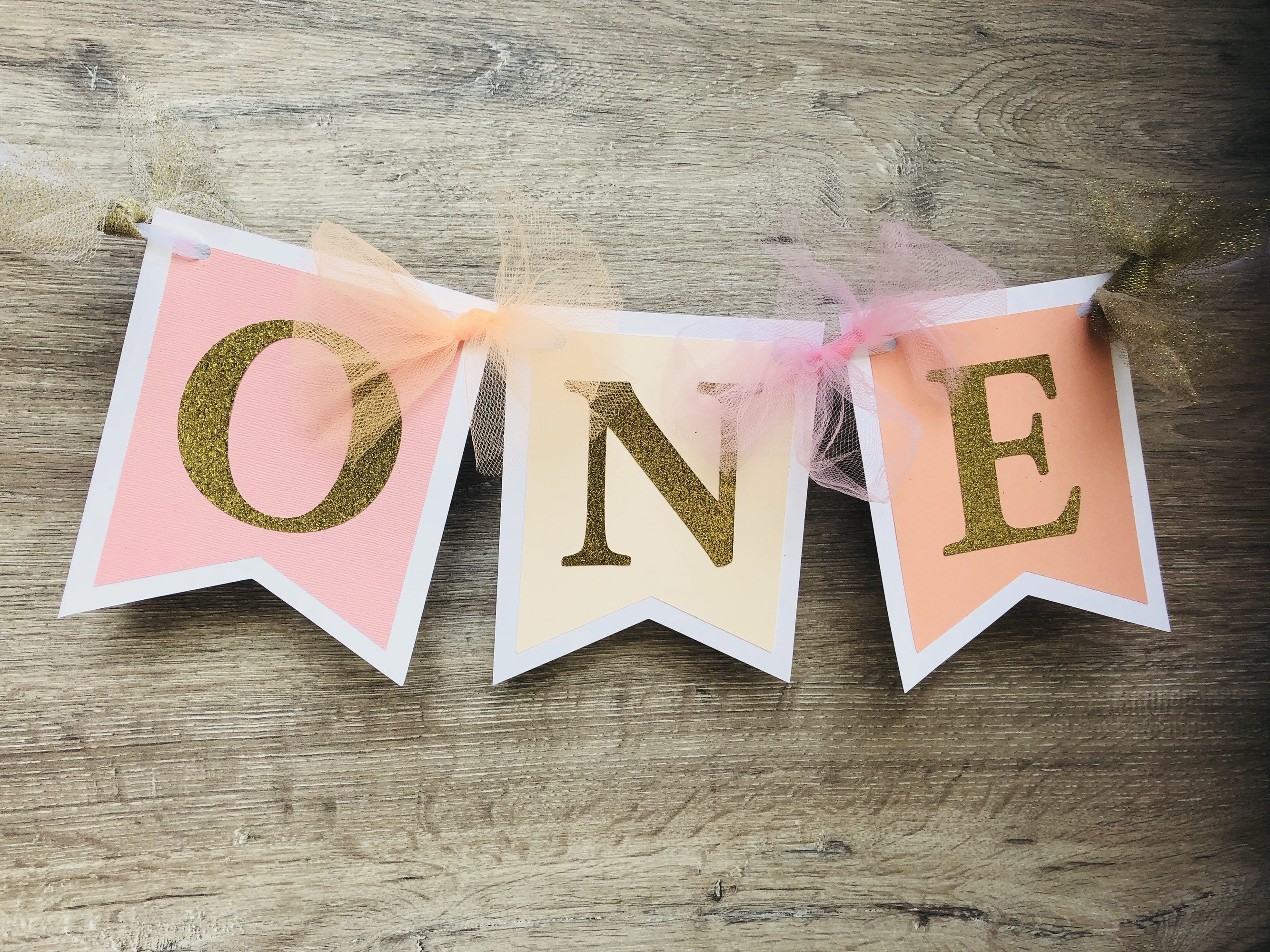 I Am One Pink Peach And Gold Birthday Party Decorations