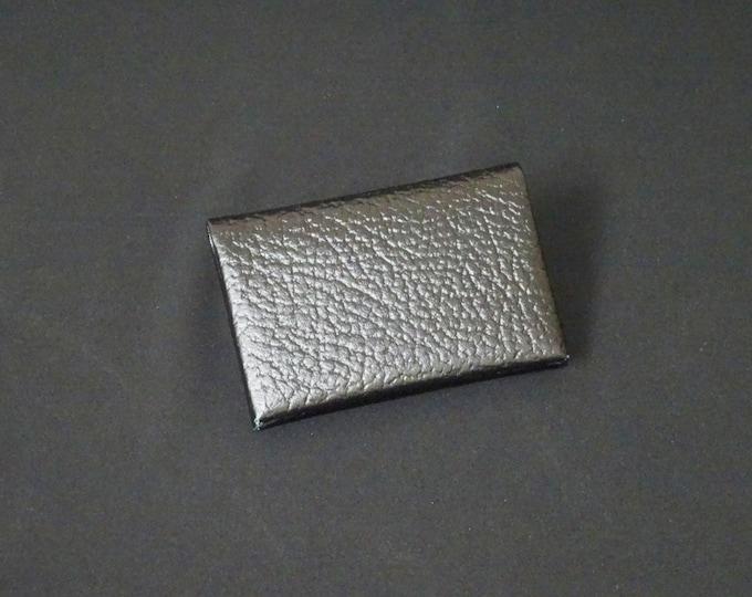 Bantam 6Pocket Wallet - Genuine Kangaroo Leather Mens Womens Strong Slim Stitchless Card Cash Coin Key Leather Wallet RFID - Black Texture