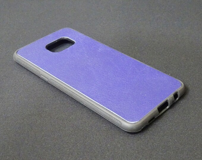 Samsung Galaxy S6 Edge Plus - Jimmy Case - Genuine Kangaroo Leather Protective Rubber Flexible Phone Holder Case - Purple