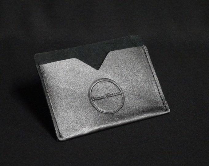 Pocket Wallet - Holds 6 cards and cash - Soft Black - Genuine Kangaroo Leather Wallet Mens Womens Slim Card Wallet RFID Chip Protection